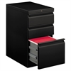 HON Efficiencies Mobile Pedestal File with One File/Two Box Drawers, 22-7/8d, Black