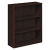 10700 Series Wood Bookcase, Three Shelf, 36w x 13 1/8d x 43 3/8h, Mahogany