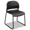 GuestStacker Series Chair, Charcoal with Black Finish Legs, 4/Carton