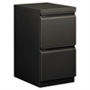 HON Efficiencies Mobile Pedestal File w/Two File Drawers, 19-7/8d, Charcoal