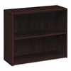 HON 10700 Series Wood Bookcase, Two Shelf, 36w x 13 1/8d x 29 5/8h, Mahogany