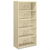 600 Series Jumbo Steel Open File, Five-Shelf, 36w x 16-3/4d x 75-7/8h, Putty
