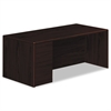 HON 10700 Series Single Pedestal Desk, Full Left Pedestal, 72 x 36, Mahogany