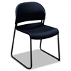 HON GuestStacker Series Chair, Regatta Blue with Black Finish Legs, 4/Carton