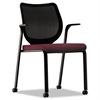 HON Nucleus Series Multipurpose Chair, Black ilira-stretch M4 Back, Wine Seat, Black