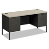 Metro Series Kneespace Credenza, 60w x 24d x 29 1/2h, Gray Patterned/Charcoal