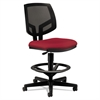 Volt Series Mesh Back Adjustable Task Stool, Crimson