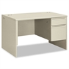 38000 Series Right Pedestal Desk, 48w x 30d x 29-1/2h, Light Gray