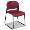 HON GuestStacker Series Chair, Burgundy with Black Finish Legs, 4/Carton