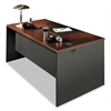 38000 Series Desk Shell, 60w x 30d x 29-1/2h, Mahogany/Charcoal