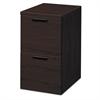 HON 10500 Series File/File Mobile Pedestal, 15 3/4w x 22 3/4d x 28h, Mahogany