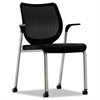 HON Nucleus Multipurpose Chair, Black ilira-stretch M4 Back, Black Seat, Platinum
