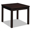 HON Laminate Occasional Table, Square, 24w x 24d x 20h, Mahogany