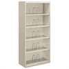 HON 600 Series Jumbo Steel Open File, Five-Shelf, 36w x 16-3/4d x 75-7/8h, Gray