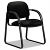 HON Sensible Seating Series Guest Arm Chair, Tectonic Fabric, Black