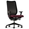 Nucleus Series Work Chair, Black ilira-stretch M4 Back, Wine Seat