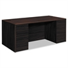 10700 Double Pedestal Desk with Full Pedestals, 72w x 36d x 29 1/2h, Mahogany