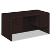 HON 10500 Series 3/4-Height Double Pedestal Desk, 60w x 30d x 29-1/2h, Mahogany