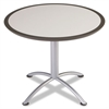 iLand Table, Dura Edge, Round Seated Style, 36 dia x 29h, Gray/Silver