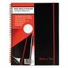Black n' Red Twin Wire Poly Cover Notebook, Legal Rule, 11 x 8 1/2, 70 Sheets