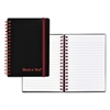 Black n' Red Twin Wire Poly Cover Notebook, Legal Ruled, 5 7/8 x 4 1/8, White, 70 Sheets
