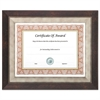 Executive Series Document and Photo Frame, 8 1/2 x 11, Mahogany/Pewter Frame