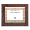 Executive Series Document and Photo Frame, 8 1/2 x 11, Mahogany/Silver Frame