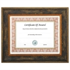NuDell Executive Series Document and Photo Frame, 11 x 14, Brown Frame
