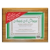 Award-A-Plaque Document Holder, Acrylic/Plastic, 10-1/2 x 13, Oak