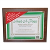 NuDell Award-A-Plaque Document Holder, Acrylic/Plastic, 10-1/2 x 13, Walnut