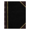 National Texthide Notebook, Black/Burgundy, 300 Pages, 9 1/4 x 6