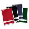 Steno Book w/Assorted Colored Covers, 6 x 9, Green Tint, 80 Sheets, 4 Pads/Pack