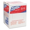 Ziploc Double Zipper Plastic Storage Bag, 1.75 mil, 1qt, Clr, Write-On ID Panel, 500/BX