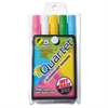 Quartet Glo-Write Fluorescent Marker Five-Color Set, Assorted, 5/Set