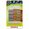 Cadoozles Mechanical Pencil, Refillable, #2, Assorted Barrels, 0.7 mm, 10/Pack