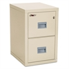 Turtle Two-Drawer File, 17 3/4w x 22 1/8d, UL Listed 350° for Fire, Parchment