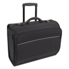 Bond Street Rolling Catalog/Computer Case, Nylon, 19 1/4 x 8 1/2 x 15, Black