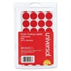 "Universal Self-Adhesive Removable Color-Coding Labels, 3/4"" dia, Red, 1008/Pack"