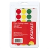 "Self-Adhesive Removable Color-Coding Labels, 3/4"" dia, Assorted, 1260/Pack"