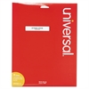 "Universal Laser Printer File Folder Labels, 3-7/16"" x 2/3"", Assorted, 750/Pack"