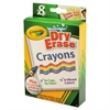 Crayola Washable Dry Erase Crayons w/E-Z Erase Cloth, Assorted Colors, 8/Pack