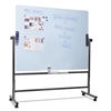 MasterVision Glass Revolving Easel, 47 1/4 x 35 1/2, Silver Frame