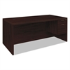 HON Valido 11500 Series Right Pedestal Desk, 72w x 36d x 29 1/2h, Mahogany