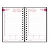 Brownline DuraFlex Daily Planner, 5 x 8, Black, 2017