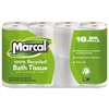 100% Recycled Two-Ply Bath Tissue, White, 96 Rolls/Carton