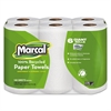 Marcal 100% Recycled Roll Towels, 5 1/2 x 11, 140/Roll, 24 Rolls/Carton