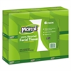 Marcal 100% Recycled Convenience Pack Facial Tissue, White, 80/Box, 6 Boxes/Pack