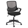 OIF Modern Mesh Task Chair, Fixed Triangle Arms, Black