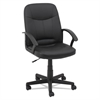 Executive Office Chair, Fixed Arched Arms, Black