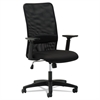 OIF Mesh High-Back Chair, Height Adjustable T-Bar Arms, Black